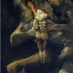 Saturne dévorant un de ses enfants - Fransisco de Goya (1823)
